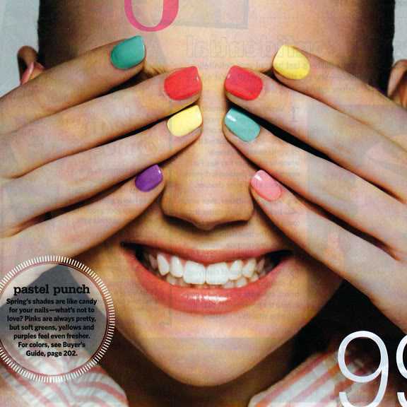 Nail Polish Different Colors: Something Dayly: Trend: Multi Colored Nails